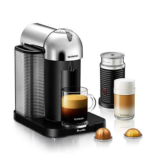Nespresso by Breville VertuoLine Coffee and Espresso Maker Bundle with Aeroccino Frother. Image via Bed Bath and Beyond.