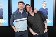 <p><i>Ted Lasso </i>costars Jason Sudeikis and Brendan Hunt attend Apple's FYC Summer Screening Series on June 8 in L.A. </p>