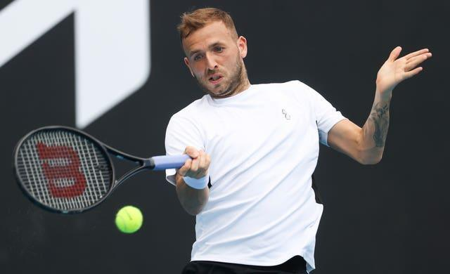 Dan Evans also had concerns about practising at the National Tennis Centre
