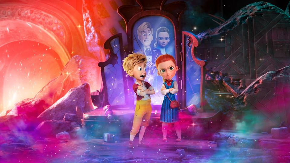 """<p><strong>Netflix's Description:</strong> """"Hansel and Gretel of fairy tale fame - now acting as secret agents - must use magic, clever thinking and teamwork on a mission to find a missing king.""""</p> <p><a href=""""https://www.netflix.com/title/81267965"""" class=""""link rapid-noclick-resp"""" rel=""""nofollow noopener"""" target=""""_blank"""" data-ylk=""""slk:Stream Secret Magic Control Agency on Netflix now!"""">Stream <b>Secret Magic Control Agency</b> on Netflix now!</a></p>"""