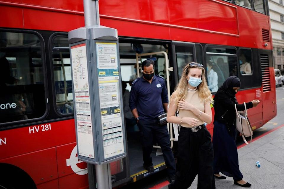 According to data from TfL, there were 3.72 million bus journeys made on Saturday (AFP via Getty Images)