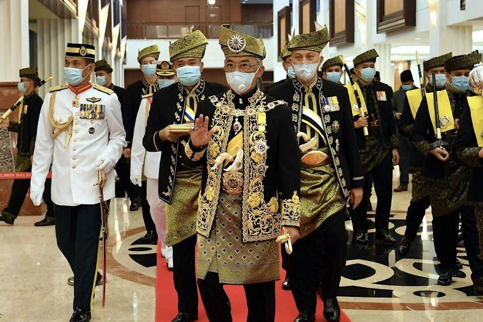 The Agong noted today that he has not given his assent for the revocation of the Emergency Ordinances. — Bernama pic