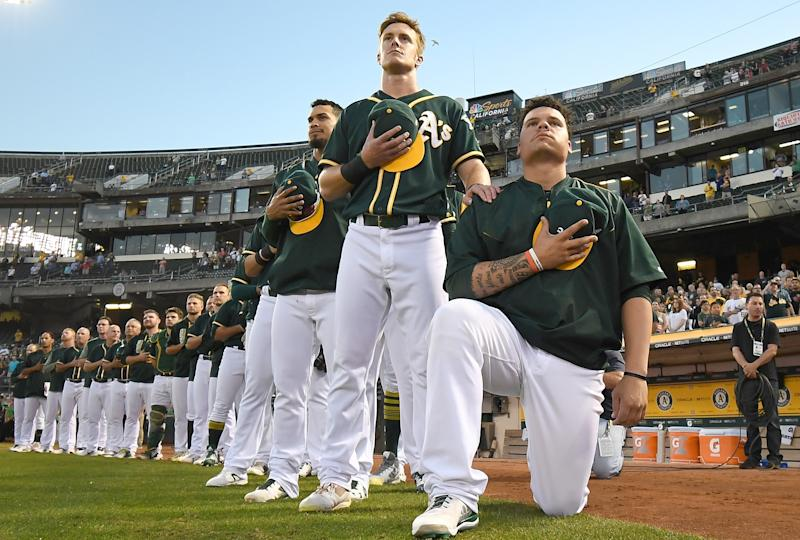 MLB's Bruce Maxwell Restaurant Claims He's Lying About Trump Service Refusal