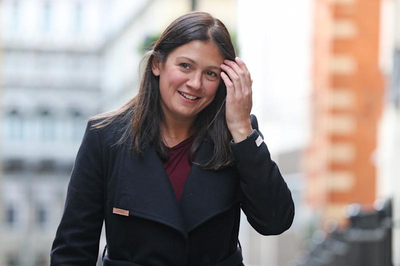 Labour leadership candidate Lisa Nandy arrives at RSA House, London, to deliver a speech on the UK's place in a post-Brexit world.