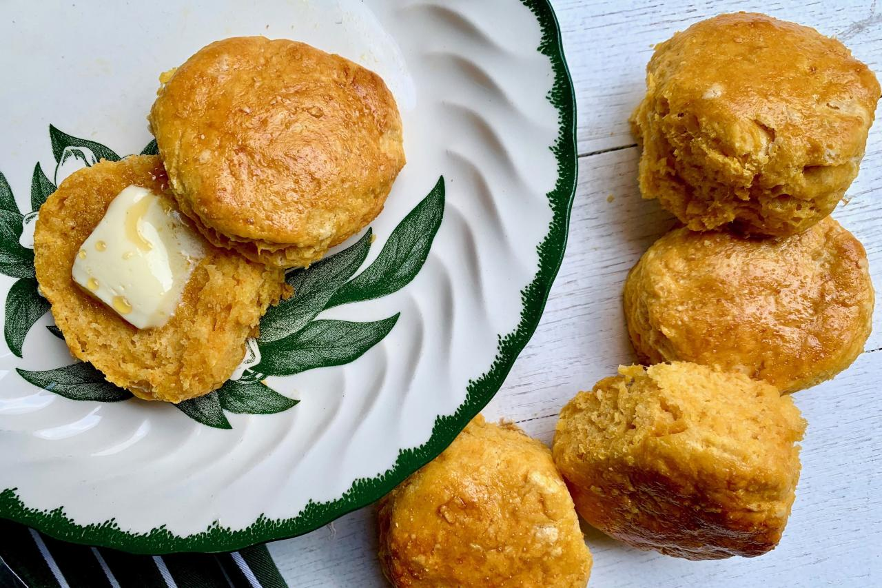 "<p><strong>Recipe: <a href=""https://www.southernliving.com/recipes/sweet-potato-biscuits"">Sweet Potato Biscuits</a></strong></p> <p>The combination of sweet potatoes and buttermilk makes for a fluffy biscuit that tastes incredible when eaten with honey and butter. </p>"