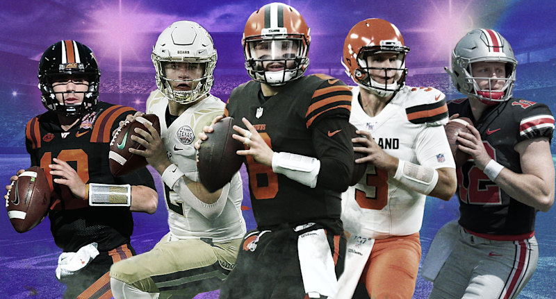 Baker Mayfield is the most well-known quarterback to come out of Lake Travis, but there are plenty other Division-I QBs from the Austin high school. (Yahoo Sports illustration)