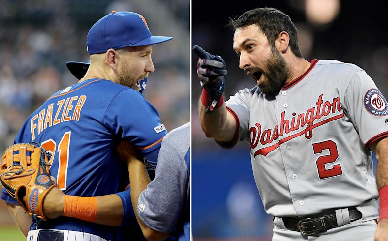 Todd Frazier (left) and Adam Eaton have been trash talking each other over a three-year-old beef. (AP/Getty Images(