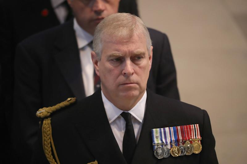 Prince Andrew in military garb