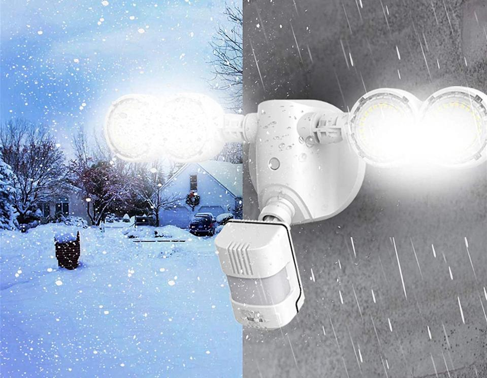 Upgrade your home's security with the SANSI LED Security Light. Image via Amazon.