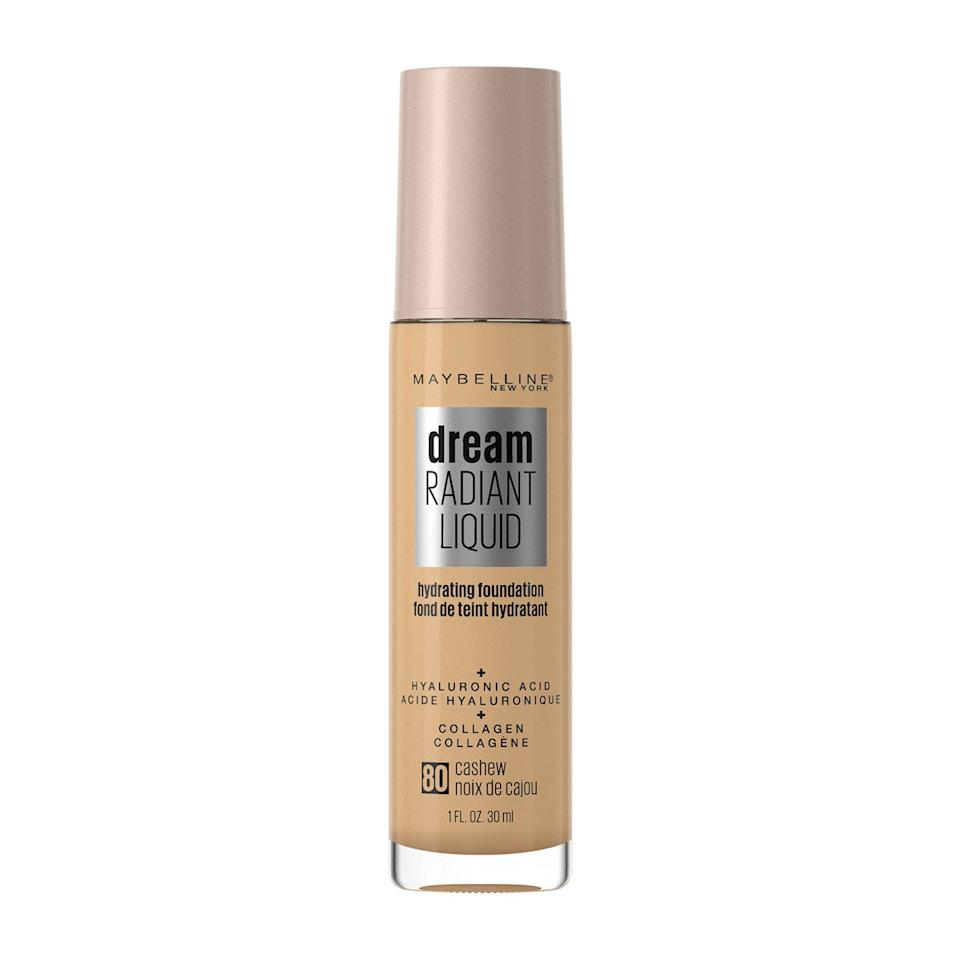 """<p>The all-new Dream Radiant Hydrating Foundation is Maybelline New York's answer to dry winter skin. This buildable, medium-coverage formula boasts two staple skin-care ingredients: <a href=""""https://www.allure.com/gallery/the-secret-ingredients-to-great-skin?mbid=synd_yahoo_rss"""">collagen</a> and <a href=""""https://www.allure.com/story/what-is-hyaluronic-acid-skin-care?mbid=synd_yahoo_rss"""">hyaluronic acid</a>.</p> <p><strong>$11</strong> (<a href=""""https://www.walmart.com/ip/Maybelline-Dream-Radiant-Liquid-Medium-Coverage-Hydrating-Foundation-Pure-Beige-1-fl-oz/899662165"""" rel=""""nofollow"""">Shop Now</a>)</p>"""