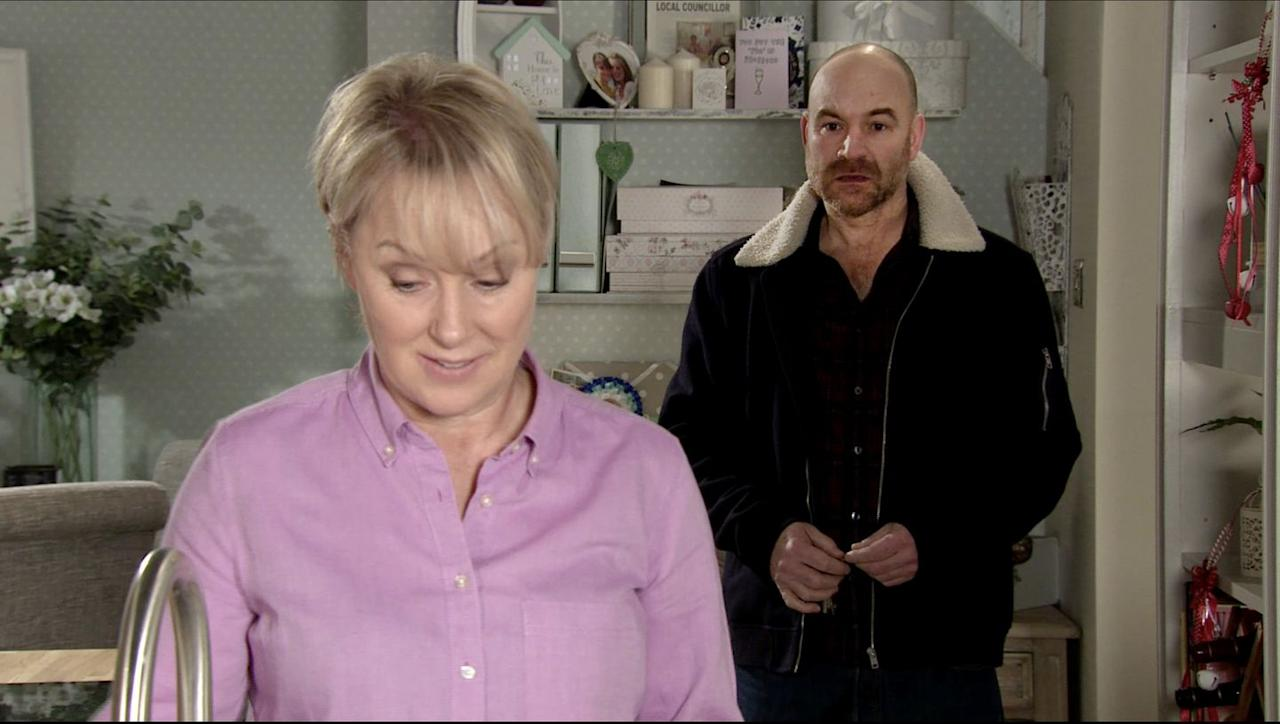 <p>Imran has warned Tim that his secret plan to remarry Sally after committing bigamy won't work. But oblivious Sally is already excited over the idea, showing a wedding brochure to Tim.</p>