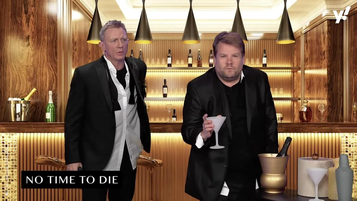 <p>The star of No Time To Die appeared on The Late Late Show with James Corden and recreated 24 movie blockbusters in a gloriously lo-fi way, culminating in a return to his iconic James Bond debut.</p>