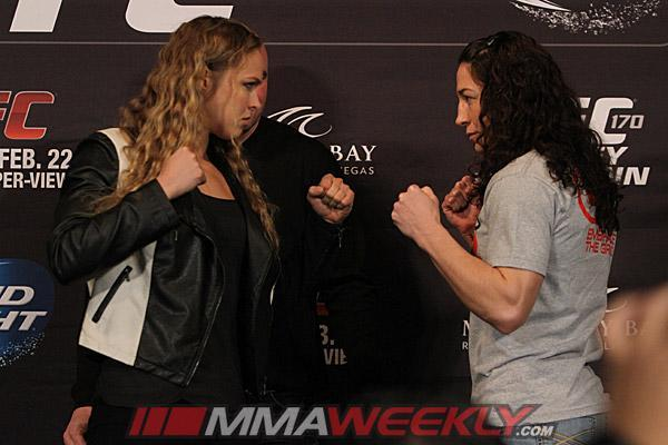 UFC 170 Weigh-in Results: Rousey and McMann Ready for First Olympian vs. Olympian Match-up