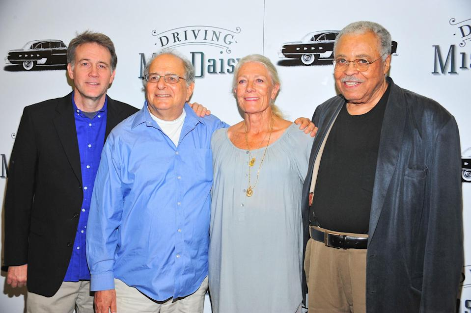 Boyd Gaines, Alfred Uhry, Vanessa Redgrave, James Earl Jones at the 2010 Broadway revival of <em>Driving Miss Daisy</em> (Photo: Gregorio T. Binuya/Everett Collection)