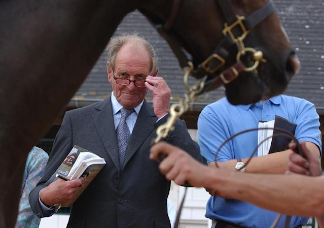 John Dunlop evaluating a horse at the annual sales in Deauville, western France, in 2005. (AFP Photo/MYCHELE DANIAU)