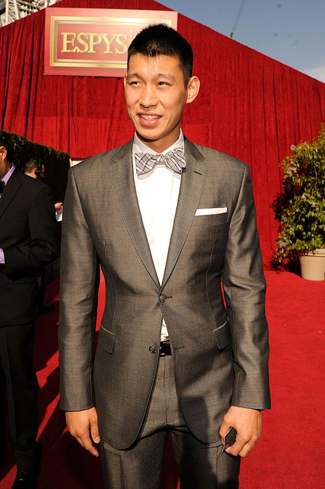 New York Knicks point guard Jeremy Lin arrives at the 2012 ESPY Awards.