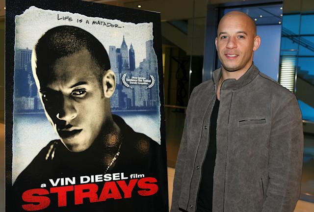 """Filmmaker/actor Vin Diesel attends his release party for the film """"Strays"""" held at Creative Artists Agency on January 10, 2008. (Frazer Harrison/Getty Images for First Look Studios)"""