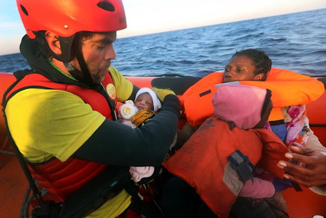 four day old rescued from Mediterranean