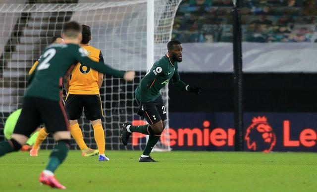 Tanguy Ndombele gave Tottenham the lead inside the first minute