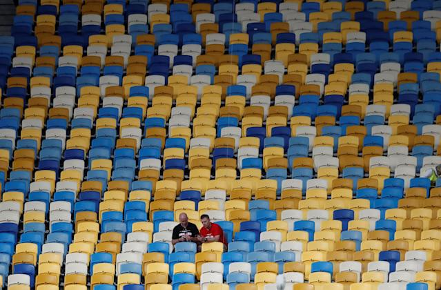 Soccer Football - Champions League Final - Real Madrid v Liverpool - NSC Olympic Stadium, Kiev, Ukraine - May 26, 2018 Fans in the stadium after the match REUTERS/Andrew Boyers