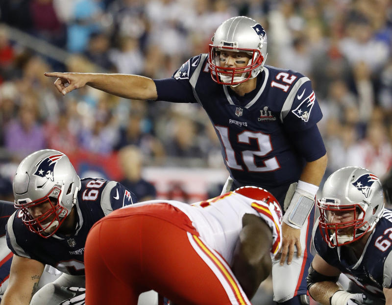 New England Patriots quarterback Tom Brady's popularity extends to Europe as well. (AP)