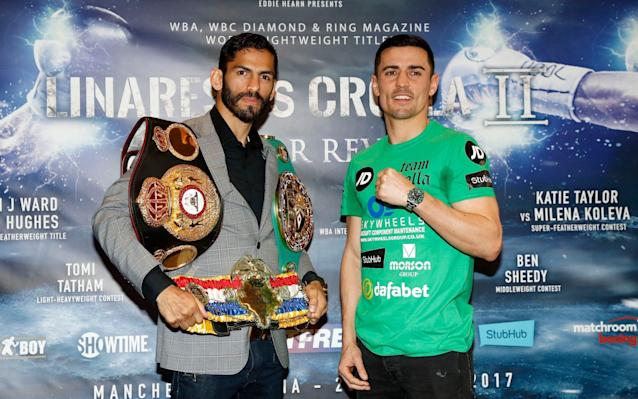 Jorge Linares and Anthony Crolla are fighting for theWBA world lightweight title - PA