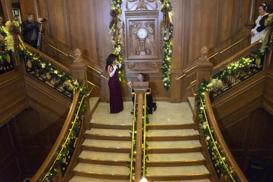 Brown planned an epic <em>Titanic</em>-themed proposal for his girlfriend, and the video has gone viral. (Photo: Titanic Museum Attraction)