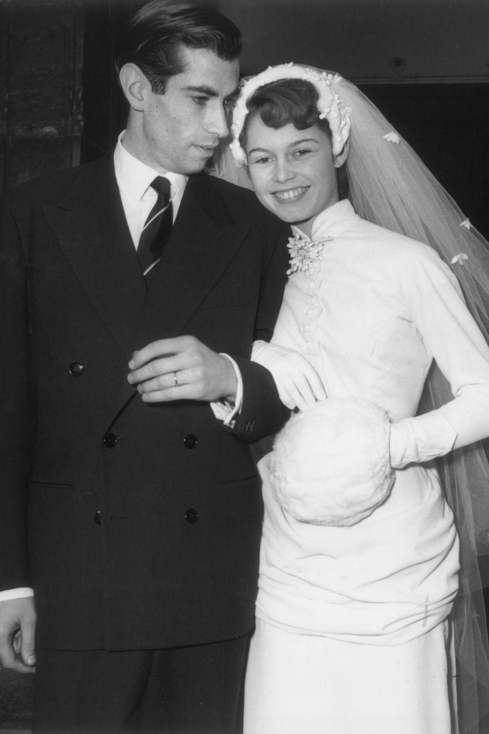 <p>Brigitte Bardot had just made her big screen debut in <em>Le Trou Normand </em>(<em>Crazy for Love</em>) when she caught the eye of film director Roger Vadim. The couple married in December 1952 at the Church of Passy in France—just a few months after the actress turned 18. </p>