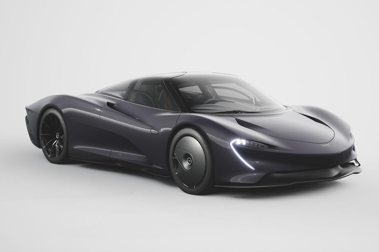 """<p>Like the LC, <a href=""""https://www.roadandtrack.com/car-shows/geneva-auto-show/a26624320/mclaren-speedtail-horsepower-torque-weight-hybrid/"""" target=""""_blank"""">the Speedtail</a> was designed as a GT car, meaning owners will be taking them on comfortable long-distance drives. So it makes sense to offer a convertible version so the three people inside can enjoy cruising to the fullest.  </p>"""