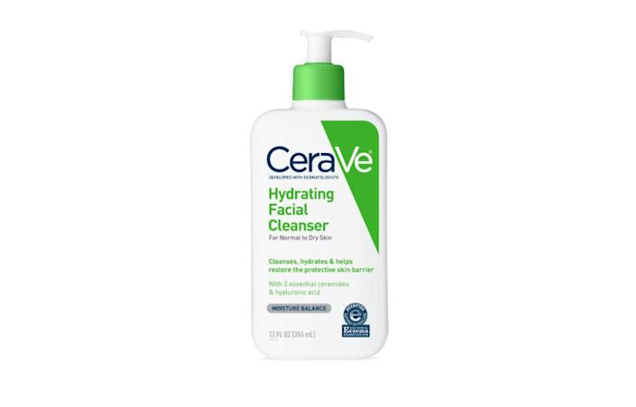 "To cleanse his skin and keep it moisturized, Motykie uses <a href=""https://www.cerave.com/skincare/cleansers/hydrating-facial-cleanser"" rel=""nofollow noopener"" target=""_blank"" data-ylk=""slk:CeraVe Hydrating Facial Cleanser"" class=""link rapid-noclick-resp"">CeraVe Hydrating Facial Cleanser</a>. &ldquo;It is a great, affordable, hydrating cleanser,&rdquo; he explained. &lt;br&gt;&lt;br&gt;<strong>Find it for $13.79 on </strong><a href=""https://www.amazon.com/gp/product/B01MSSDEPK/ref=as_li_tl?ie=UTF8&amp;tag=ceravehydratingcleanser-20&amp;camp=1789&amp;creative=9325&amp;linkCode=as2&amp;creativeASIN=B01MSSDEPK&amp;linkId=0e4014e09a748299b66df48c8fd1c8a9"" rel=""nofollow noopener"" target=""_blank"" data-ylk=""slk:Amazon"" class=""link rapid-noclick-resp""><strong>Amazon</strong></a><strong>.</strong>"