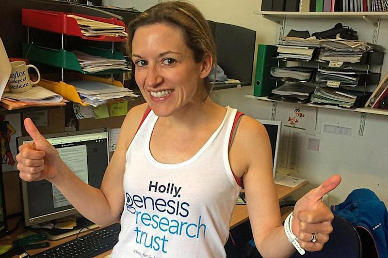 Charity athletes: Dr Holly Lewis is raising money for research into pre-term birth