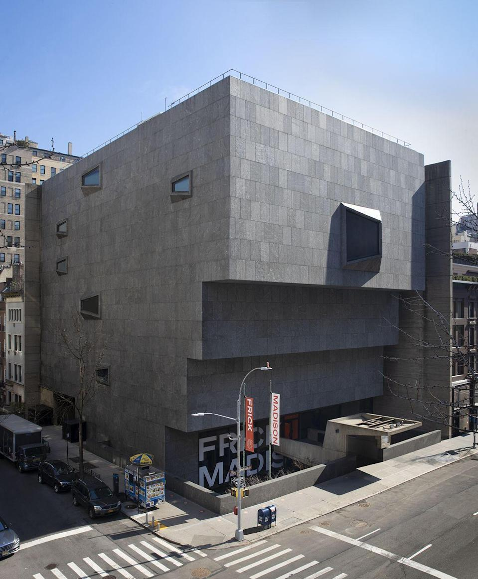 """<p>Set in the former Breuer Building on the corner of Madison and 75th, <a href=""""https://www.frick.org/madison"""" rel=""""nofollow noopener"""" target=""""_blank"""" data-ylk=""""slk:the Frick Madison"""" class=""""link rapid-noclick-resp"""">the Frick Madison</a> is the new temporary home of the Frick Collection as the Gilded Age manse on East 70th Street is currently undergoing a two-year renovation. Be sure to visit this temporary location to discover the best of the Frick's permanent collection, as well as a reading room that offers resources from the Frick Art Reference Library—perfect for hot summer days in the city. </p>"""