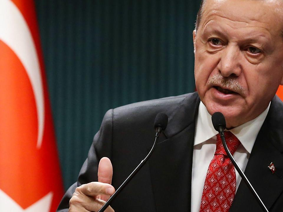 Erdogan Sees Turkey's Future With Europe Despite Sanction Threat