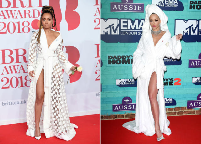 Leigh-Anne Pinnock puts a spin on Rita Ora's MTV EMA look. (Photo: Getty Images)