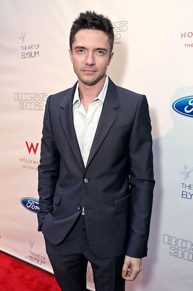 """Topher Grace (""""Spider-Man 3,"""" """"That '70s Show"""") turns 33 Tiffany Rose/<a href=""""http://www.wireimage.com"""" target=""""new"""">WireImage.com</a> - June 9, 2011"""