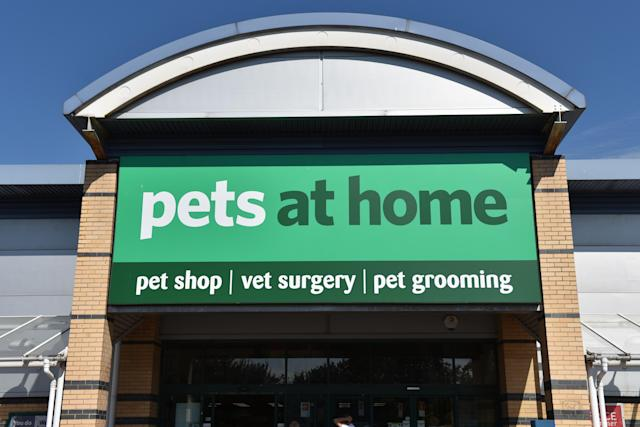 Pets at Home pet shop, vet surgery and pet grooming retail outlet store. (John Keeble/Getty)