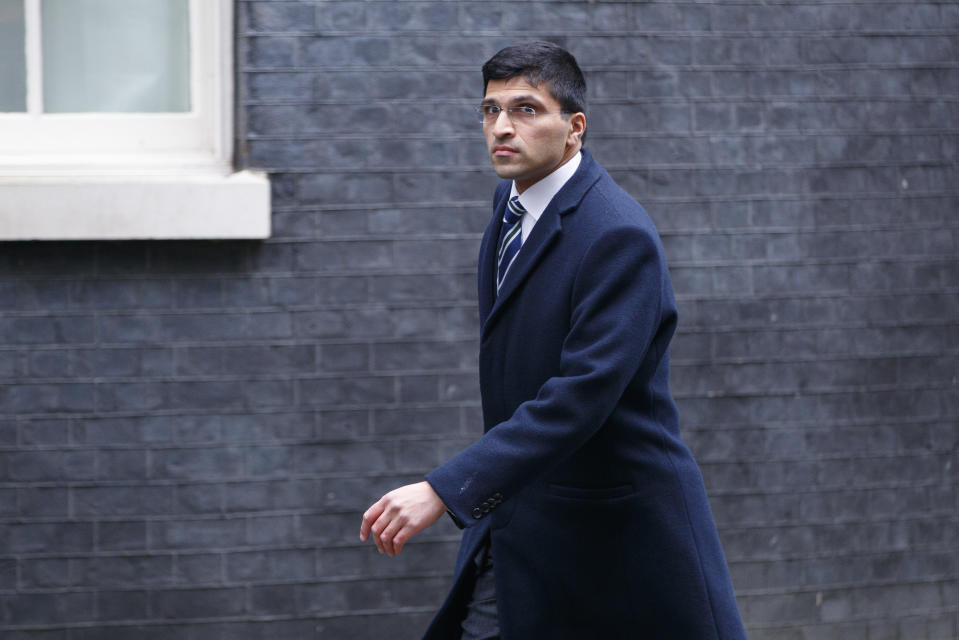 Nikhil Rathi, CEO of the London Stock Exchange, arrives at Downing Street for a meeting in London on January 11, 2018. Britain's Prime Minister Theresa May mets with business leaders from the financial services sector at Downing Street.  / AFP PHOTO / AFP PHOTO AND Tolga Akmen / Tolga Akmen        (Photo credit should read TOLGA AKMEN/AFP via Getty Images)