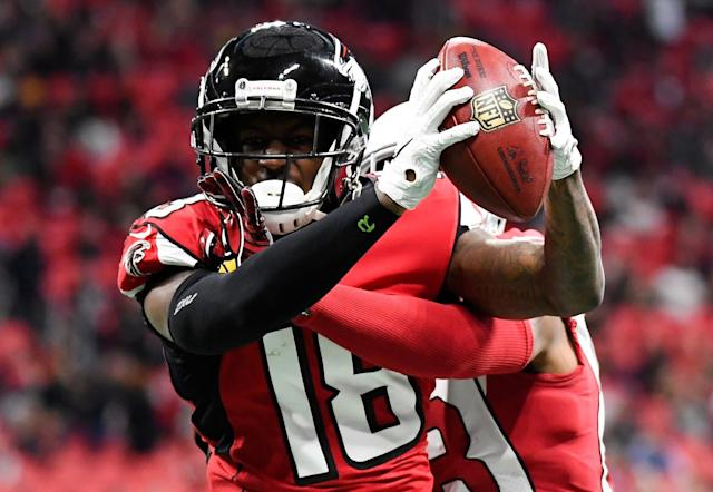 Drew Brees could have used a receiver such as Calvin Ridley late last season. (AP Photo)