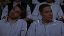"""<p>In his first-ever film, Seth played Ricky Danforth, a sidekick bully who mumbles the line, """"I like your boobs."""" </p>"""
