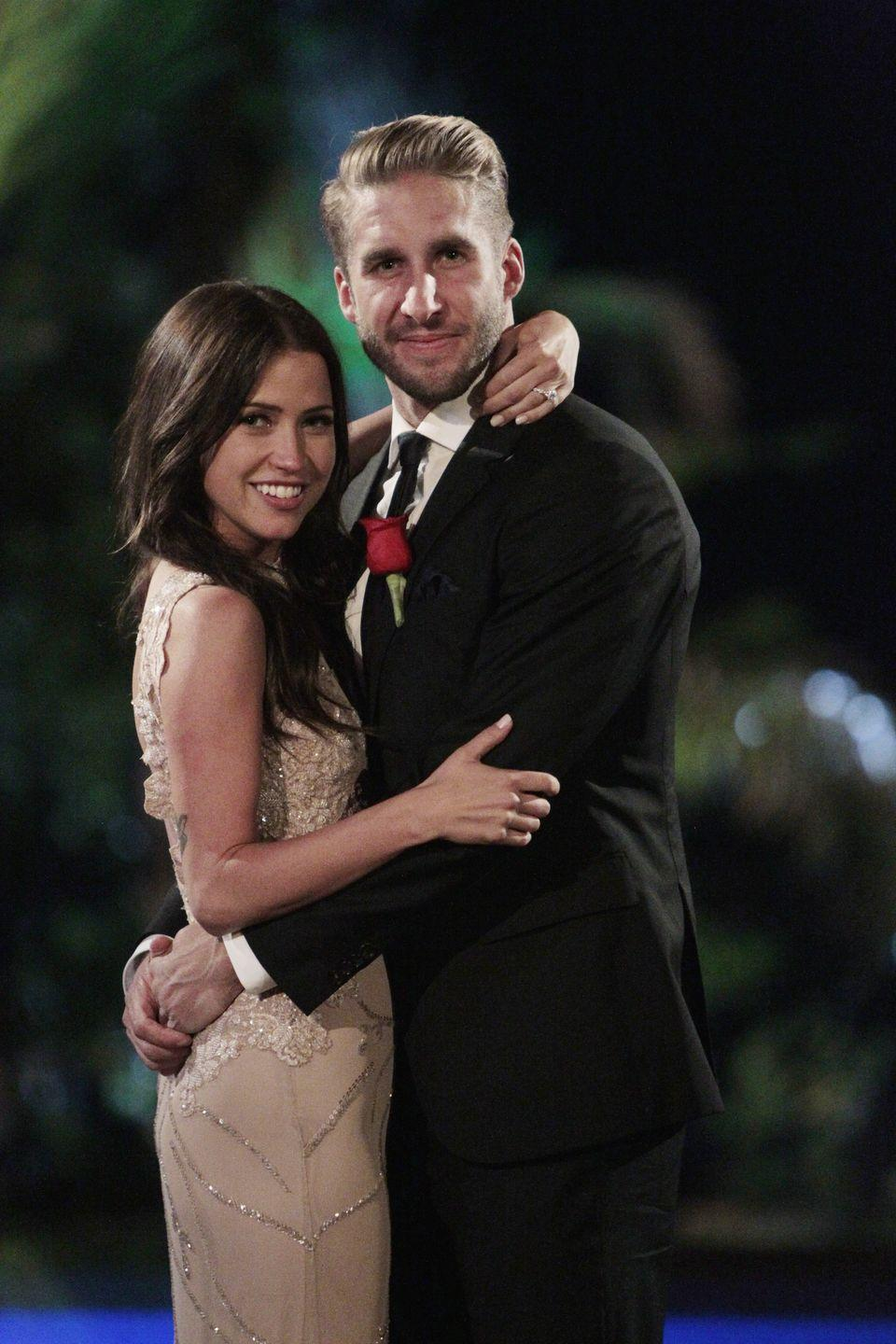 """<p>Kaitlyn Bristowe spoiled her season when she <a href=""""https://www.businessinsider.com/kaitlyn-bristowe-blows-abcs-bachelorette-finale-in-a-snapchat-2015-7"""" rel=""""nofollow noopener"""" target=""""_blank"""" data-ylk=""""slk:posted a Snapchat photo of her and winner Shawn Booth"""" class=""""link rapid-noclick-resp"""">posted a Snapchat photo of her and winner Shawn Booth</a> before the finale. Of course it circulated, but it doesn't seem she had to pay the <a href=""""https://medium.com/@CounttheClock/how-does-the-bachelor-keep-its-secrets-b7ddea130d9b"""" rel=""""nofollow noopener"""" target=""""_blank"""" data-ylk=""""slk:rumored $5 million fine"""" class=""""link rapid-noclick-resp"""">rumored $5 million fine</a>. (As if the edit didn't make it obvious she was going to pick him anyway.)</p>"""