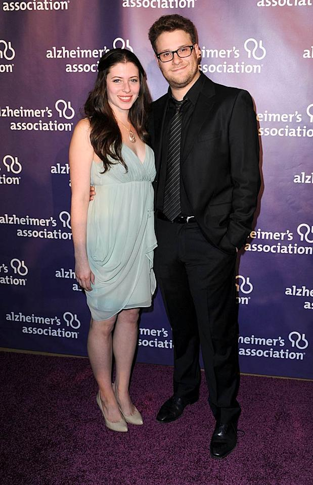 """""""The Green Hornet's"""" Seth Rogen, who attended with his fiancee, actress Lauren Miller, served as Master of Ceremonies at the star-studded event, which has raised over $18 million for the Alzheimer's Association to date. Frazer Harrison/<a href=""""http://www.gettyimages.com/"""" target=""""new"""">GettyImages.com</a> - March 16, 2011"""