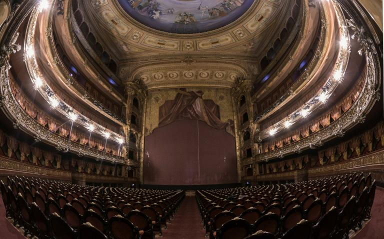 Argentina's Colon Theatre in Buenos Aires, one of thousand closed across the world due to the lockdown measures in place to fight the spread of the coronavirus (AFP Photo/JUAN MABROMATA)