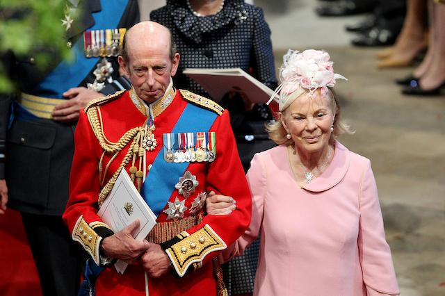 The Duke and Duchess of Kent leave Westminster Abbey