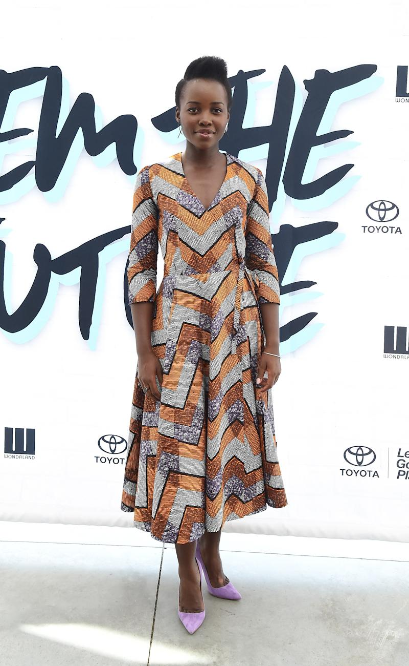 Lupita Nyong'o in DPipertwins at the Fem the Future Pre-VMAs Brunch hosted by Janelle Monáe in New York, New York, August 2016.