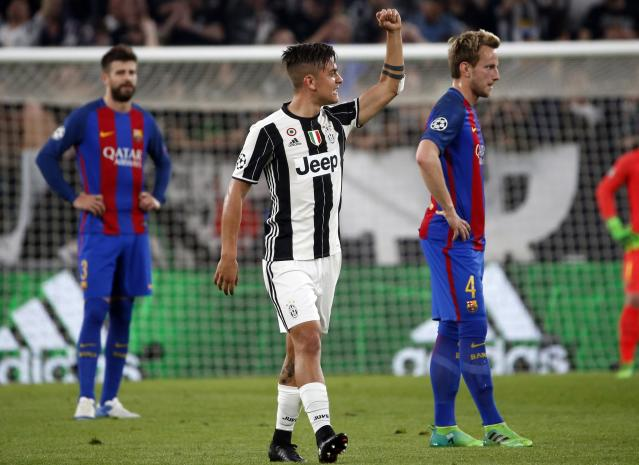 Paulo Dybala (center) and Juventus are set for another huge Champions League clash with Barcelona. (AP)