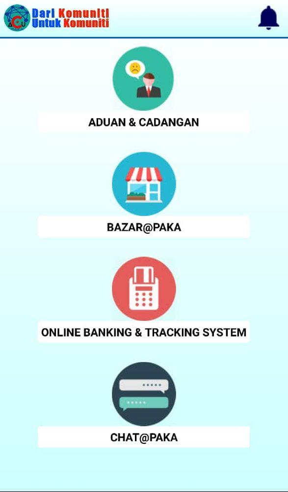 From the AcuPaka homepage, users can choose to reach out to a government agency, do some shopping, conduct online banking transactions, or simply chat with their contacts.