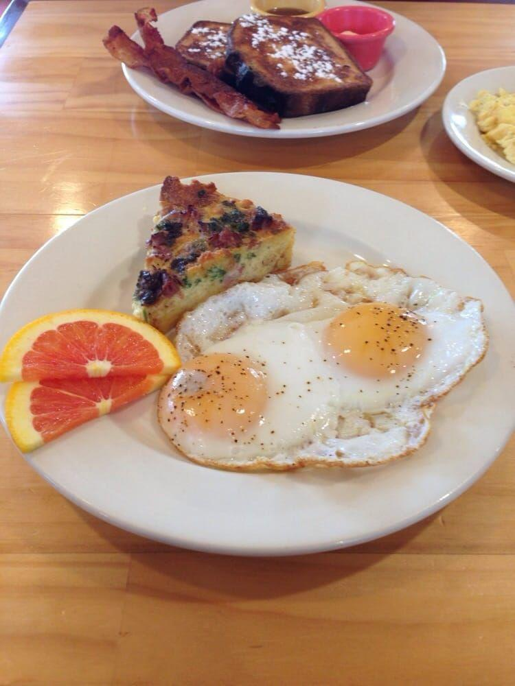 """<p><a href=""""https://www.tripadvisor.com/Hotel_Review-g49443-d4090893-Reviews-The_Small_B_B_Cafe-Pittsboro_North_Carolina.html"""" rel=""""nofollow noopener"""" target=""""_blank"""" data-ylk=""""slk:Small B&B Café"""" class=""""link rapid-noclick-resp"""">Small B&B Café</a> in Pittsboro</p><p>""""Good, fresh, local offerings. The smashed potatoes served with breakfast plates are really delicious. But it's their lemon ricotta pancakes that inspire me to drive all the way from Raleigh for brunch. They are fluffy little pillows of creamy, lemony goodness!<span class=""""redactor-invisible-space"""">"""" - Yelp user <a href=""""https://www.yelp.com/user_details?userid=DVzDusIFtUAvNjjpTcC9xg"""" rel=""""nofollow noopener"""" target=""""_blank"""" data-ylk=""""slk:Pythia S."""" class=""""link rapid-noclick-resp"""">Pythia S.</a></span></p>"""