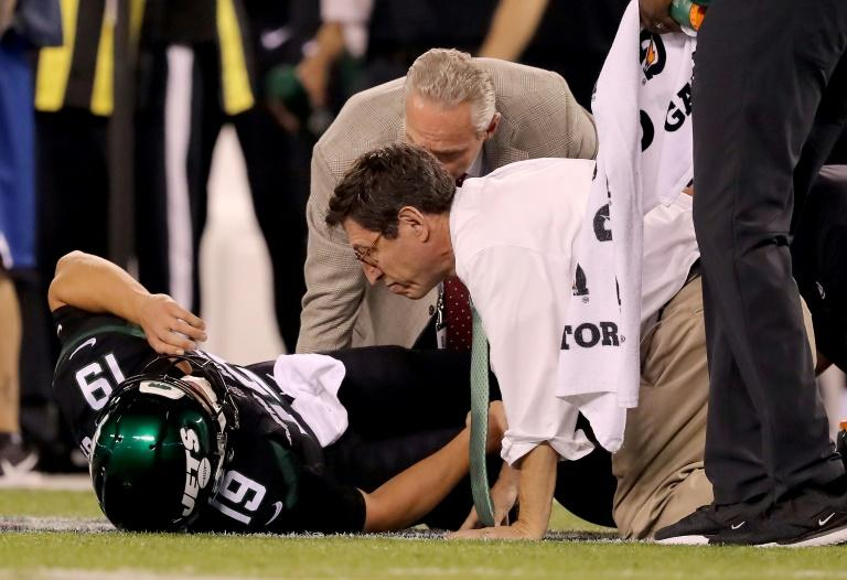New York Jets backup Trevor Siemian is one of several quarterbacks injured in the opening weeks of the NFL season (AFP Photo/ELSA)