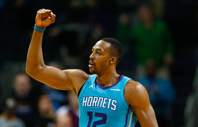 "The Wizards' big addition this offseason is <a class=""link rapid-noclick-resp"" href=""/nba/players/3818/"" data-ylk=""slk:Dwight Howard"">Dwight Howard</a>. (AP)"