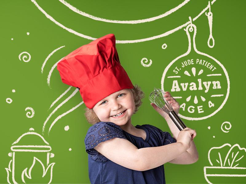 Avalyn's dream is to become a chef. She's being treated for acute lymphoblastic leukemia at St. Jude Children's Research Hospital®, but that won't slow her down from doing amazing things one day.